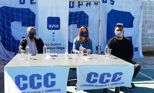 MALENA GALMARINI FIRMA UN CONVENIO CON LA CCC PARA REALIZAR OBRAS DE AGUA Y CLOACA