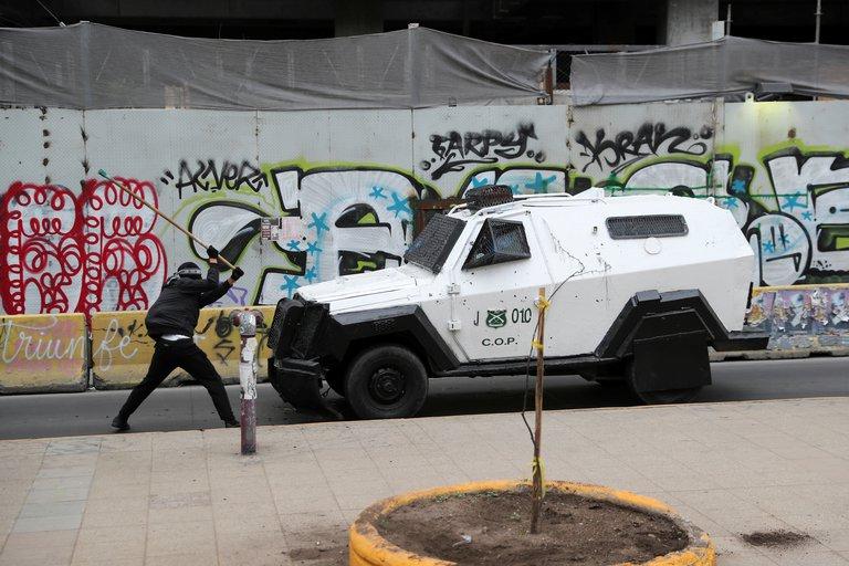 ENFRENTAMIENTO CON MAPUCHE EN EL CENTRO DE CHILE.